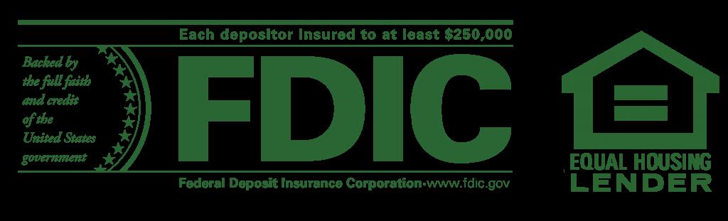 green FDIC and Equal Housing Lender Logos